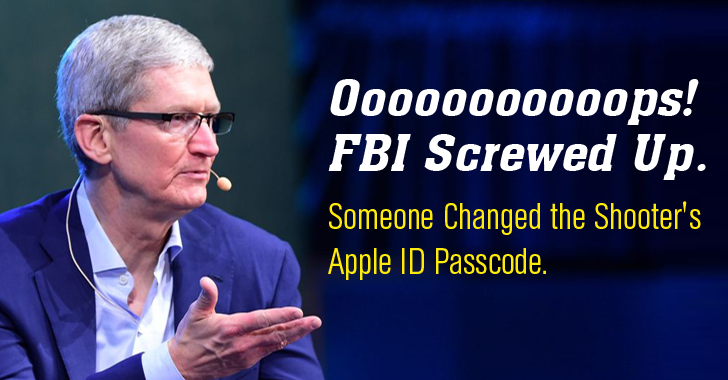 FBI Screwed Up — Police Reset Shooter's Apple ID Passcode that leaves iPhone Data Unrecoverable