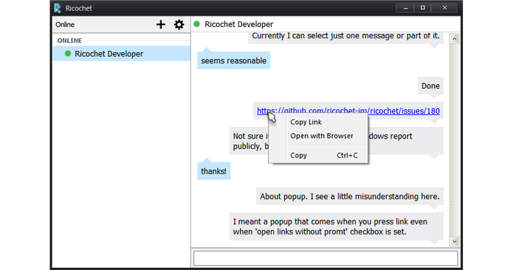 Ricochet — Most Secure Peer-to-Peer Encrypted Messenger that Sends No Metadata