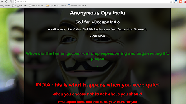 Bharatiya Janata Party website defaced by Anonymous Hackers