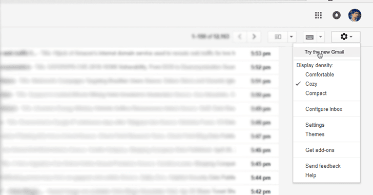 try new gmail
