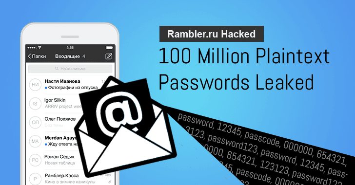Russia's Largest Portal HACKED; Nearly 100 Million Plaintext Passwords Leaked