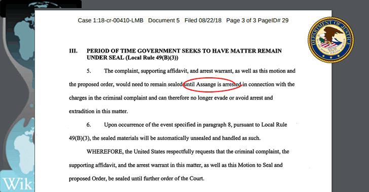 """Secret Charges Against Julian Assange Revealed Due to """"Cut-Paste"""" Error"""