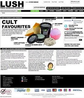 Lush website is back online after hacking !