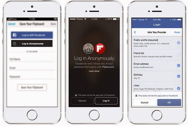 Facebook Introduces Anonymous Login to Limit Third-party App Permissions
