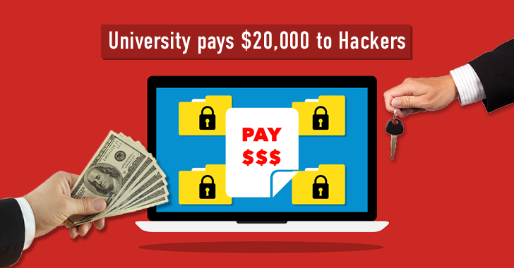 University Pays Hackers $20,000 to get back its Ransomware Infected Files