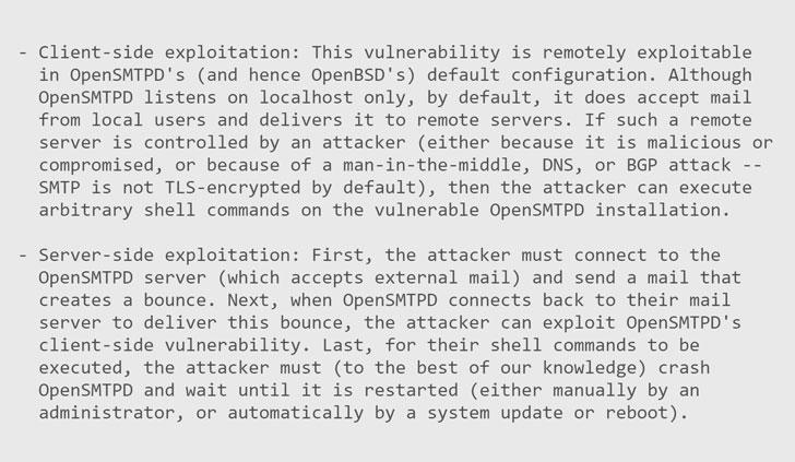 opensmtpd vulnerability