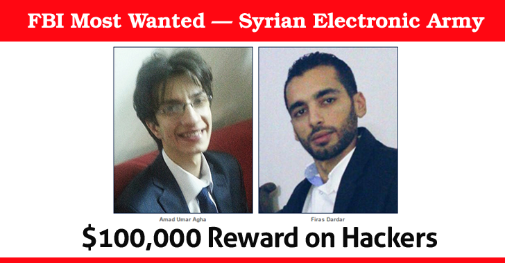 FBI Most Wanted — Three 'Syrian Electronic Army' Hackers Charged for Cyber Crime
