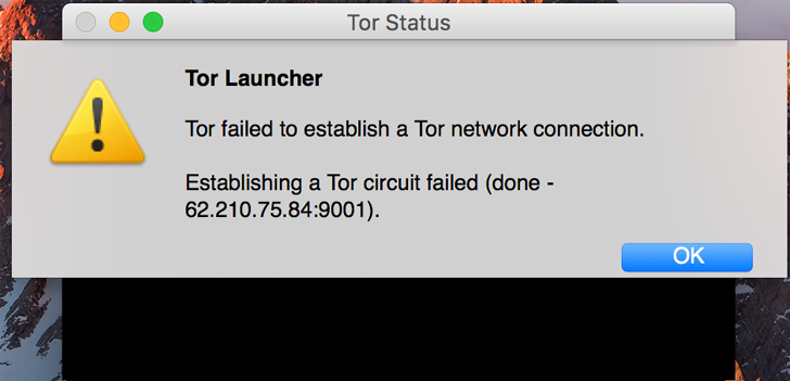 Figure 18: Cato blocks Tor