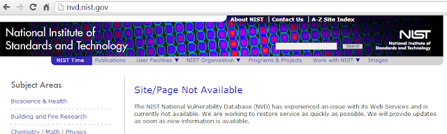 NIST National Vulnerability Database hacked
