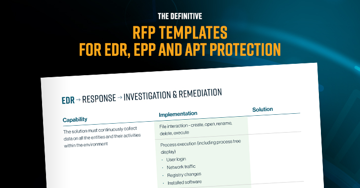 Definitive RFP Templates for EDR, EPP and APT Protection