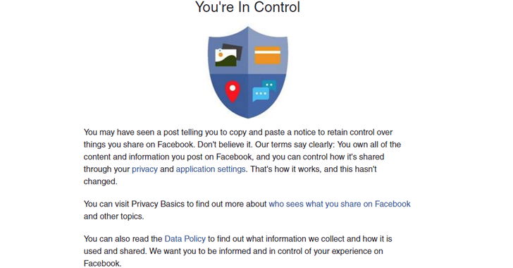 STOP Sharing that Facebook Privacy and Permission Notice, It's a HOAX