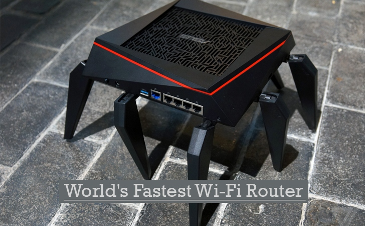 Meet World's Fastest Wi-Fi Router (Looks Like an Alien)