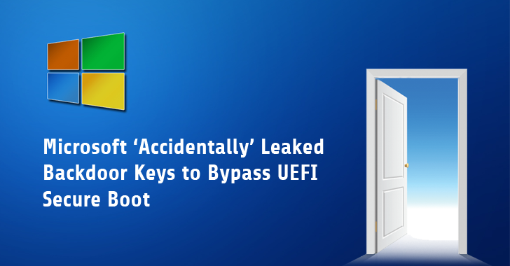 Oops! Microsoft Accidentally Leaks Backdoor Keys to Bypass UEFI Secure Boot
