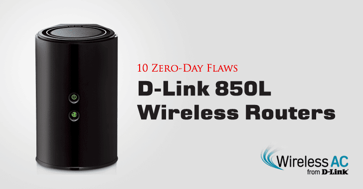 Researcher Discloses 10 Zero-Day Flaws in D-Link 850L Wireless Routers