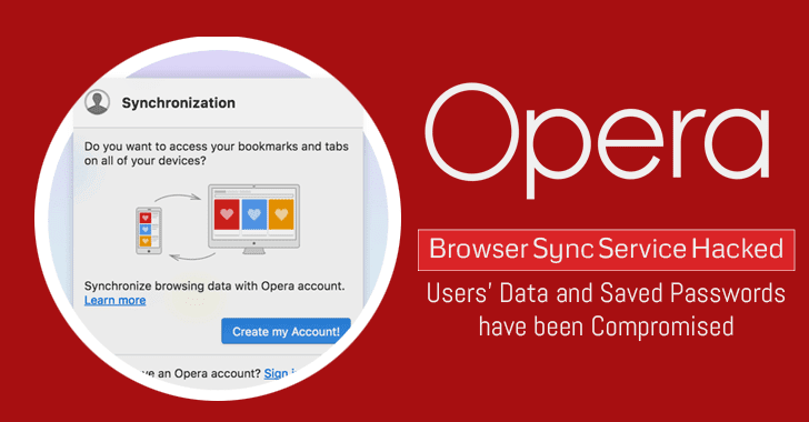 Opera Browser Sync Service Hacked; Users' Data and Saved Passwords Compromised