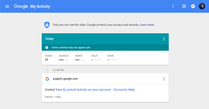 Check 'My Activity' Dashboard to know how much Google knows about you