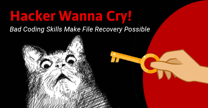 WannaCry Coding Mistakes Can Help Files Recovery Even After Infection