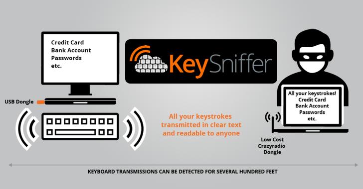 KeySniffer Lets Hackers Steal Keystrokes from Wireless Keyboards