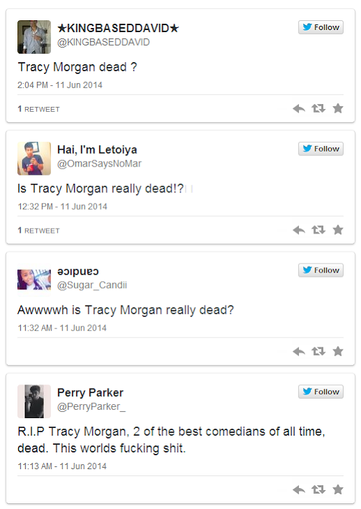 BEWARE: Is Tracy Morgan Really Dead? Facebook Scam Targeting Users with Malware