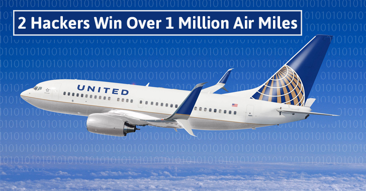 2 Hackers Win Over 1 Million Air Miles each for Reporting Bugs in United Airlines