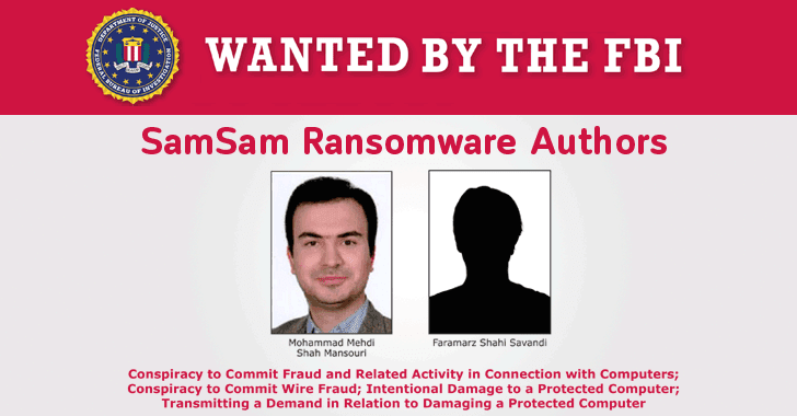 U.S Charges Two Iranian Hackers for SamSam Ransomware Attacks