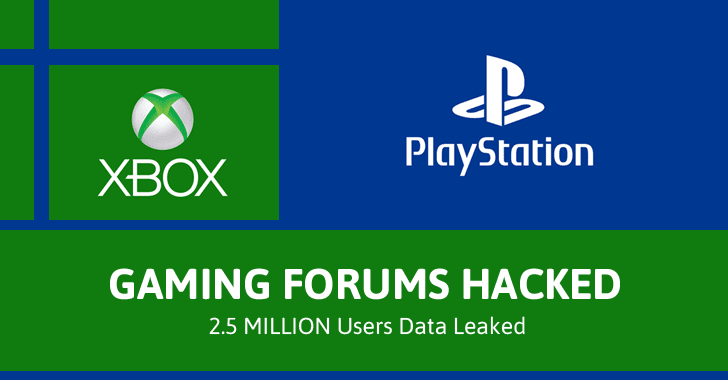 Popular PlayStation and Xbox Gaming Forums Hacked; 2.5 Million Users' Data Leaked