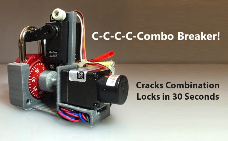 This 3D Printed Robot Cracks Combination Locks in Less than 30 Seconds