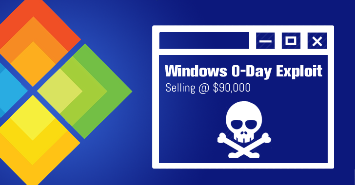 Hackers Selling Unpatched Microsoft Windows Zero-Day Exploit for $90,000
