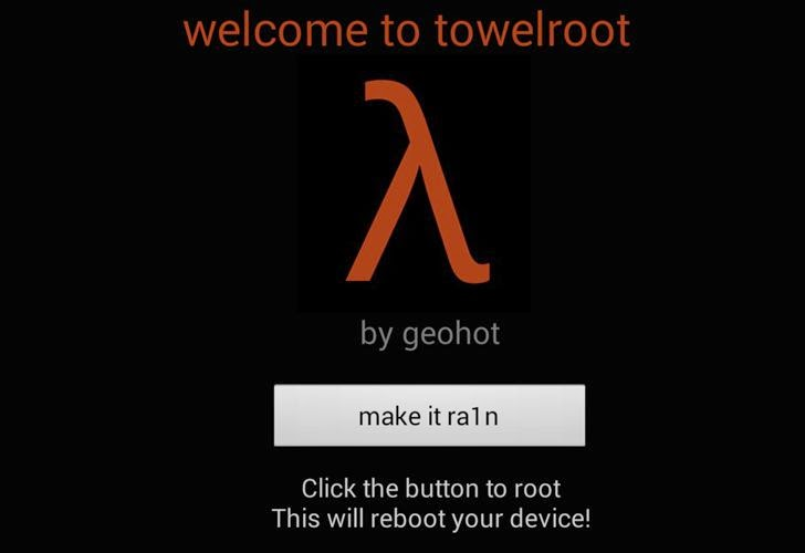 Towelroot : One-Click Android Rooting Tool Released By Geohot