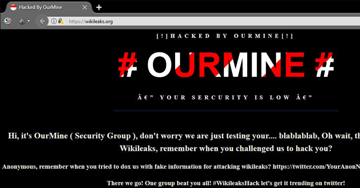 Oops! WikiLeaks Website Defaced By OurMine
