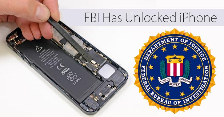 FBI Has Successfully Unlocked Terrorist's iPhone Without Apple's Help