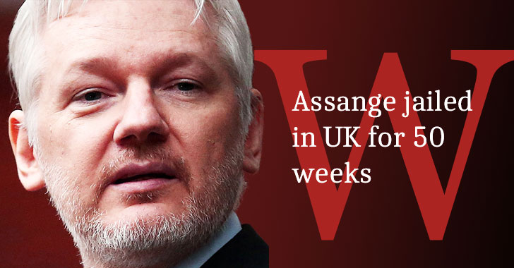 WikiLeaks' Julian Assange Sentenced to 50 Weeks in UK Jail