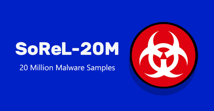 SoReL-20M: A Huge Dataset of 20 Million Malware Samples Released Online