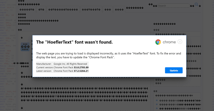 "Beware! Don't Fall For ""Font Wasn't Found"" Google Chrome Malware Scam"