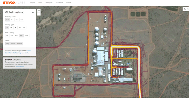 Heat Map Released by Fitness Tracker Reveals Location of Secret Military Bases