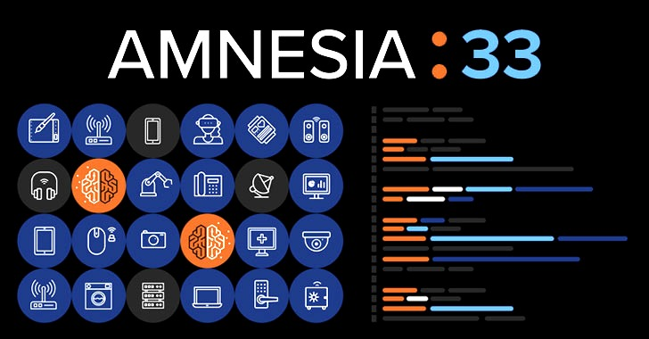Amnesia:33 — Critical TCP/IP Flaws Affect Millions of IoT Devices