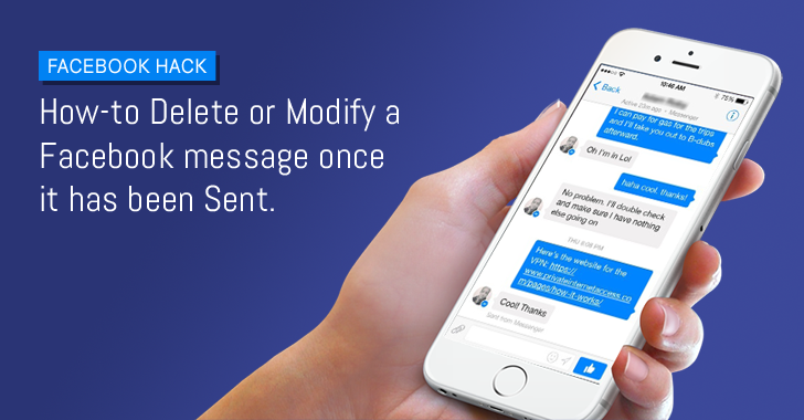 Researcher finds a way to Delete and Modify Facebook Messages Sent to Other Users