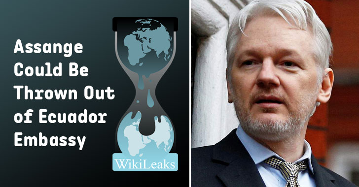 Ecuador to Withdraw Asylum for Wikileaks Founder Julian Assange