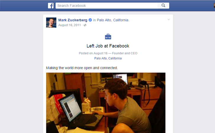 Mark Zuckerberg Just Quits his Job at Facebook — Check Yourself!