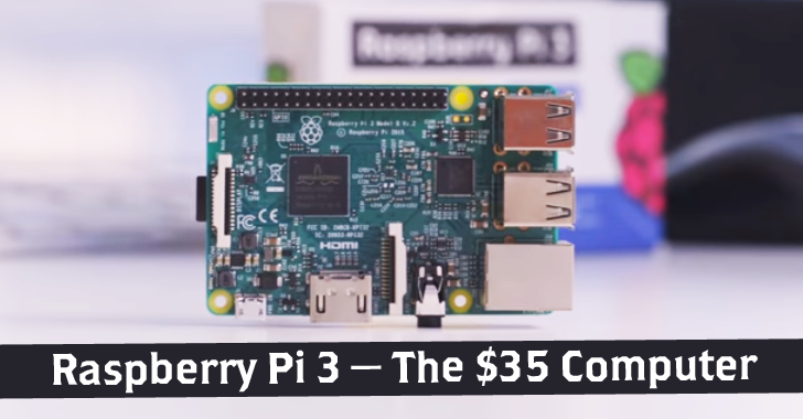 Raspberry Pi 3 — New $35 MicroComputer with Built-in Wi-Fi and Bluetooth
